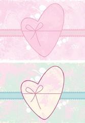 illustration with the Valentine  decoration