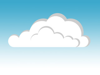 Tuinposter Hemel cloud illustration