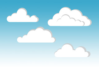 Printed roller blinds Heaven cloud illustration