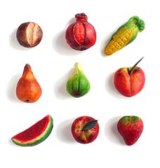 Marzipan fruit isolated
