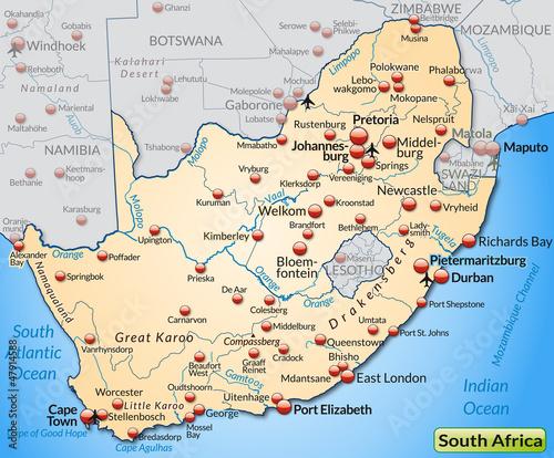 Südafrika Karte Pdf.Landkarte Von Südafrika Stockfotos Und Lizenzfreie Vektoren Auf