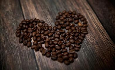 Fragrant coffee heart
