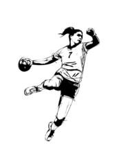 woman handball player