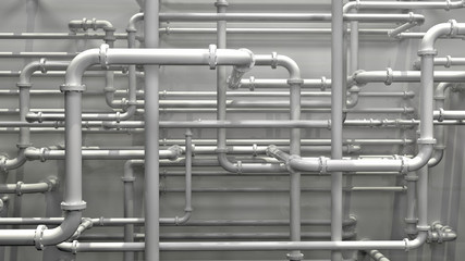 white pipeline background