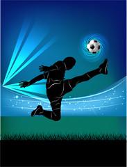 football player - jump kick