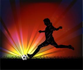 football player - kick
