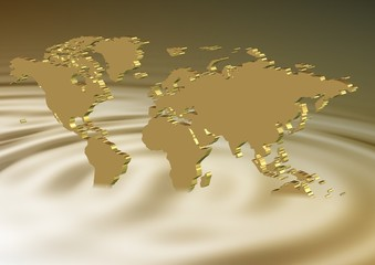 Golden earth sinking