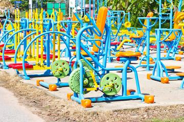 outdoor fitness equipment..