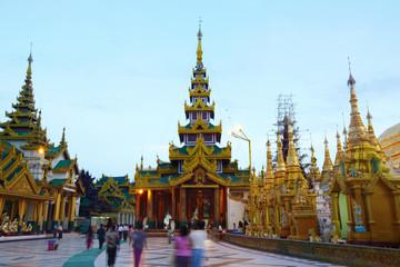 Swedagon Paya at dawn in Yangon ,Myanmar