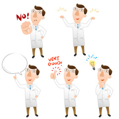 Five pose of doctor