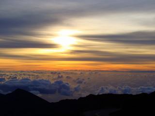 Sunrise in Haleakala National Park in Maui, Hawaii