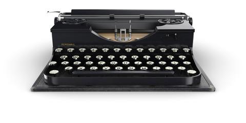 Portable vintage typewriter (isolated)