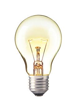 trun on tungsten light bulb, Realistic photo image