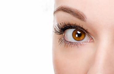 Beautiful woman eye with make-up