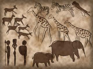 Höhlenmalereien Afrika