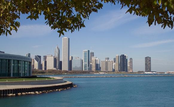Shedd Aquarium And Chicago Skyline