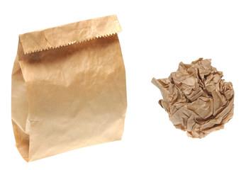 paper bag crumpled paper
