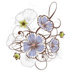 Vintage floral design, vector illustration