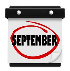 September Word Wall Calendar Change Month Schedule