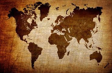 grunge world map background