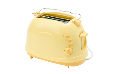 A cute yellow bread toaster