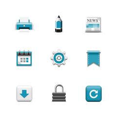 Web icons. Azzurro series