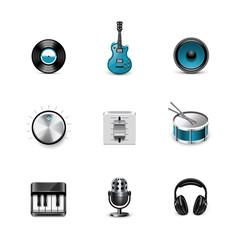 Music icons. Azzurro series