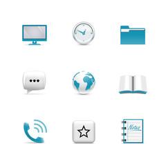 Internet icons. Azzurro series