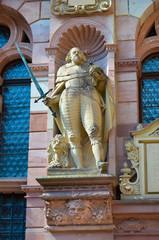 Heidelberg, statua nella facciata del castello
