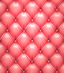 Foto auf Leinwand Leder Pink vector upholstery leather pattern background.