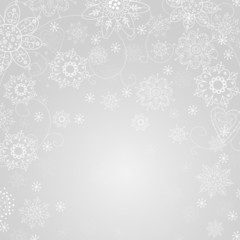 gray abstract background with snowflake and freezing