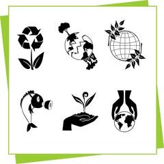 Ecology - vector illustration
