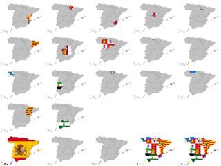 Kollektion aus spanischen Regionen