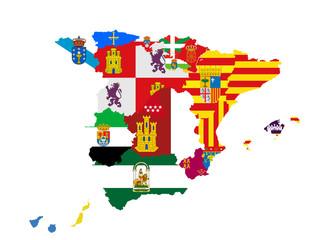 Kollage aus spanischen Regionen