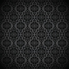 Seamless rich black wallpaper and background