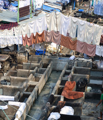 Open-air laundry, Mumbai, India