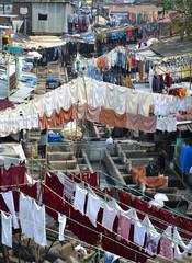 Open-air laundry, Mumbai, India