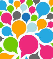 colorful funny speech bubbles