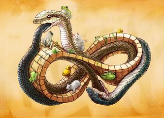 メビウスの輪の上のヘビ