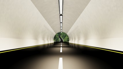 Empty highway tunnel