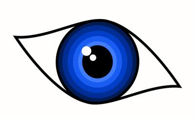 Beautiful blue woman eye – symbol, vector