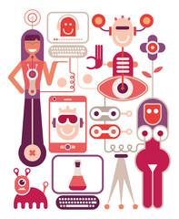 Canvas Prints Abstract Art Human performance lab - vector illustration