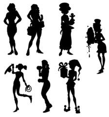 Fashion Women Silhouettes Collection