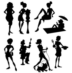 Fashion Women Silhouettes