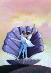 precious ballet in a shell