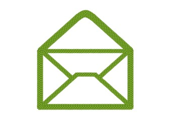 Four Leaf Clover of Open Envelope Icon with RSS Sign
