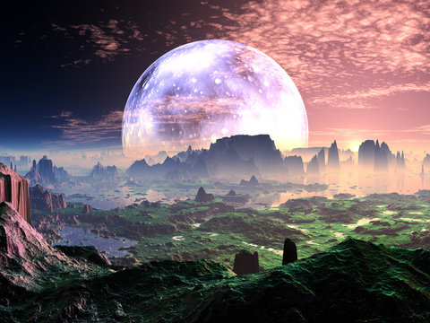 Dawn on Idyllic Earth-like Planet