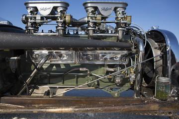 Wall Mural - Engine racing car in Bonneville Salt Flats
