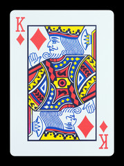 Playing cards - King of diamonds