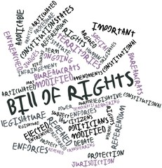 Word cloud for Bill of rights
